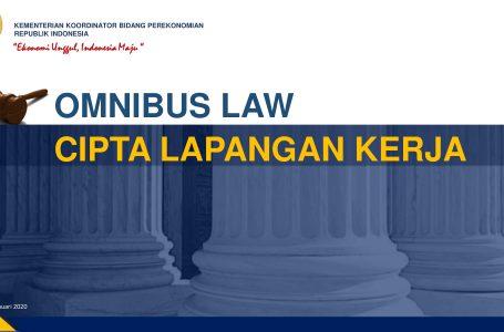 Omnibus Law Cipta Lapangan Kerja